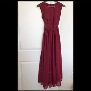 💃🏽💃🏽ELEGANT WINE RED ETSY DRESS SIZE M 💃🏽